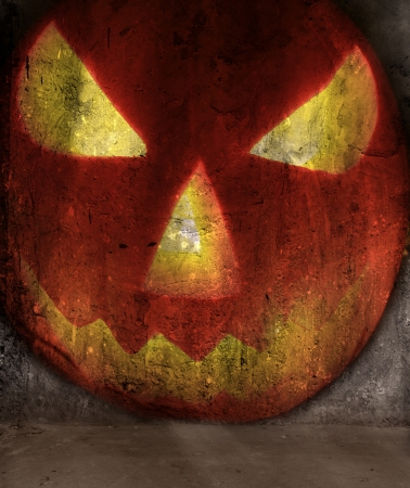 halloween pumpkin abstract grunge background photo