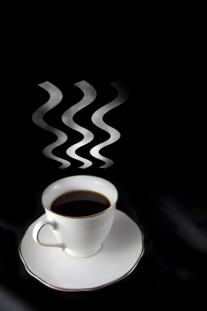 steaming coffee: coffee abstract concept Stock Photo
