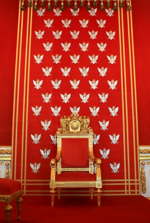 king palace:  Throne of polish king in Warsaw castle
