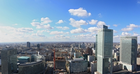 Warsaw downtown panorama photo