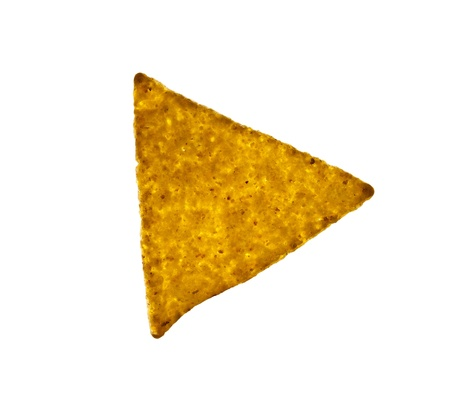 corn chip: nachos tortilla chips isolated