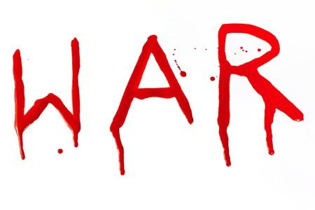 drippings: War bloody inscription