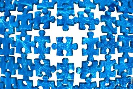 Water puzzle abstract background blue photo