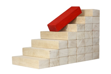decrease fall down career business concept with stairs  photo