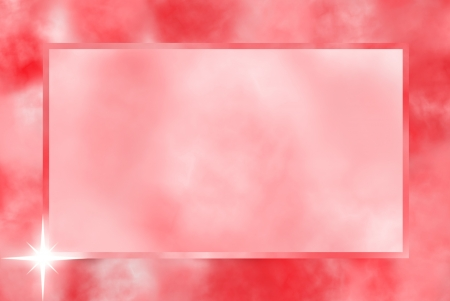hot announcement:  Pink border frame with stars