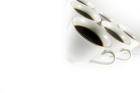 coffee border on white background photo