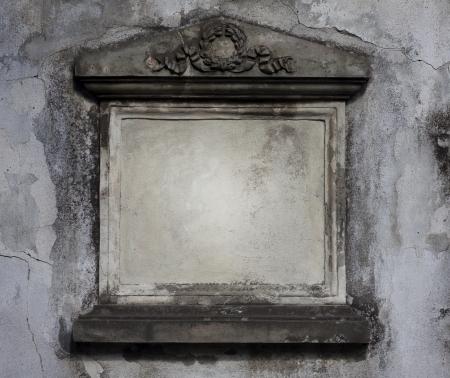 headstones:  Blank grave frame on cemetery