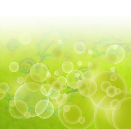 Floral abstract green background photo