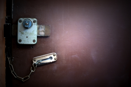 Old grunge door lock background photo