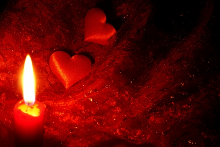 flame like:  hearts abstracy background in night