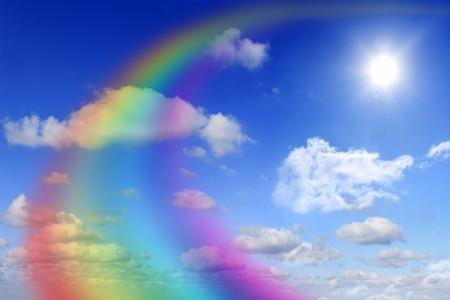 虹と空を抽象化します。