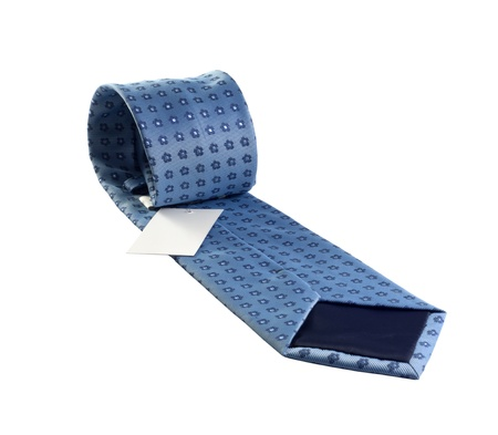 blue tie the way concept of businessman photo