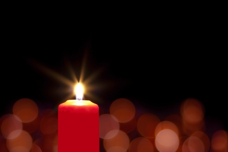 darkness:  Red christmas candle background
