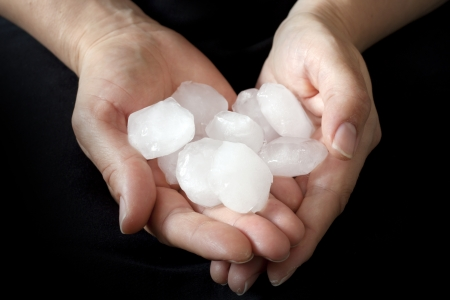 hail:  Hail in hands weather anomaly