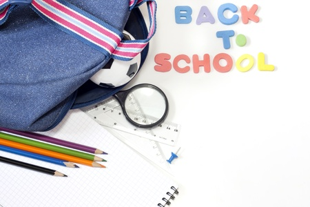 Back to school education background concept photo