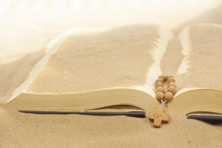 bury: Loss of faith forgotten words of Bible religion concept Stock Photo