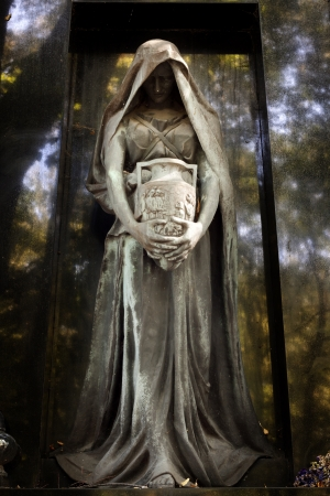 Statue of ancient angel on cemetery in Warsaw Stock Photo - 15047466