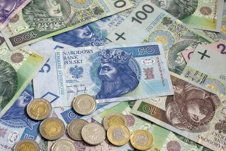 Poolse geld munten en bankbiljetten achtergrond