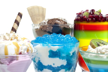 Colorful desserts mixed assortment photo