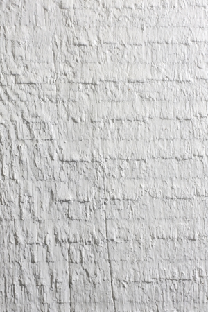 Old retro white painted wooden board background photo