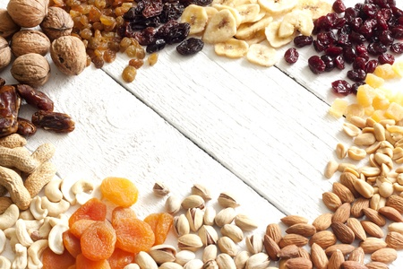 Dainty nuts and dried fruits mix Standard-Bild