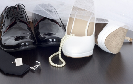 Wedding shoes concept Stock Photo - 18969886