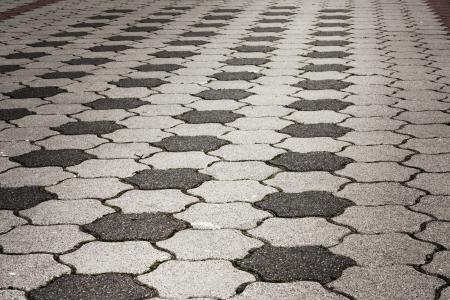 empedrado: Oscuro vacío grunge pavimento concepto de fondo Foto de archivo
