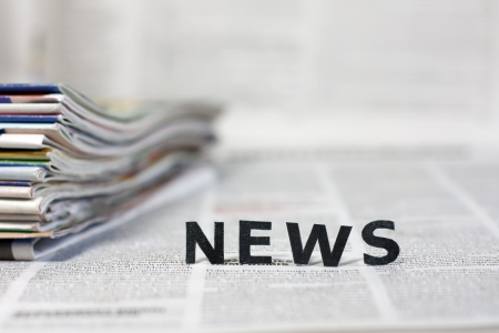 News letters on newspapers with blurred background concept Stock Photo - 20165301