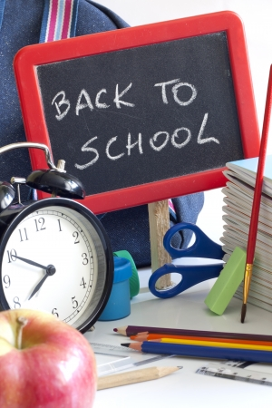 Back to school concept with inscription on blackboard photo