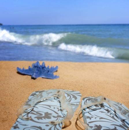 Beachwear at sea holiday vacation background concept photo