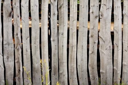 Old vintage village wooden fence background concept photo