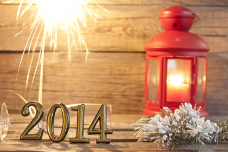 2014 happy new year abstract background sign with sparklers Stock Photo - 21798618