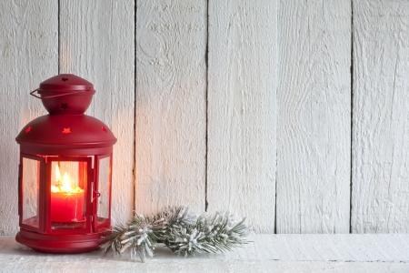 Christmas lantern abstract background on white boards Standard-Bild