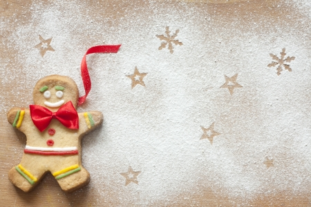 Christmas abstract food with gingerbread man  photo