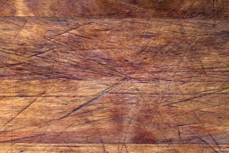 Oude houten snijplank achtergrond structuur met krassen Stockfoto