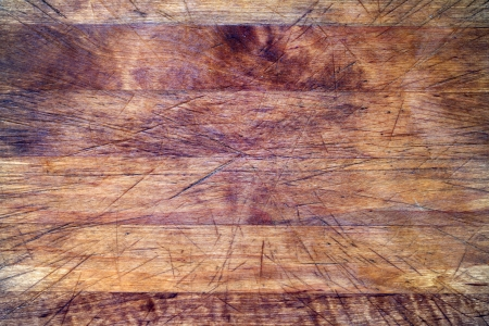 Old wooden cutting board background texture with scratches