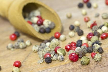 dried spice: Pimienta seca especias primer plano