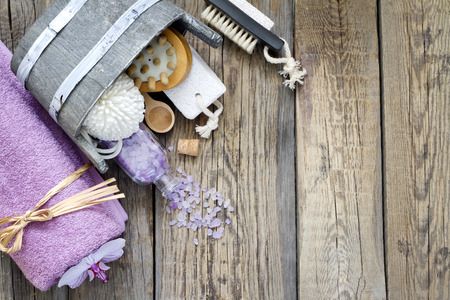 Aromatherapie spa massage tools waarmee lichaamsverzorging stilleven