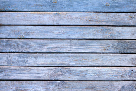 Oude houten blauw geschilderde planken achtergrond textuur Stockfoto