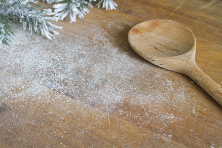 Abstract christmas food backing and cooking background photo
