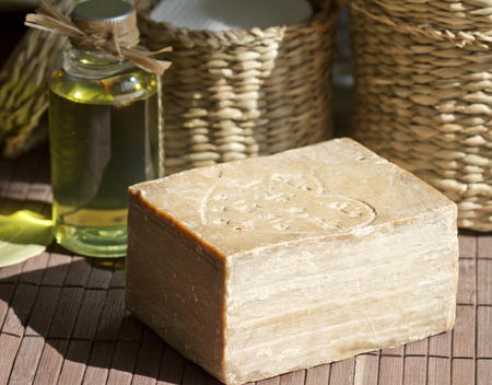 Aleppo natural soap closeup