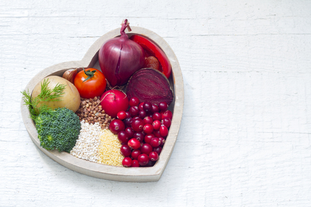 Gezonde voeding in hart teken van een gezonde levensstijl