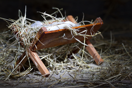 stable: Manger in the stable abstract christmas symbol