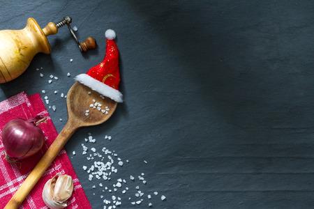 Kerst Koken abstracte voedsel achtergrond Stockfoto