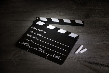 Movie clapper boards cinematography abstract sign Stock Photo
