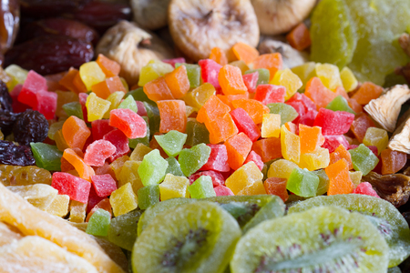 Candied fruits background texture mixed assortment 版權商用圖片