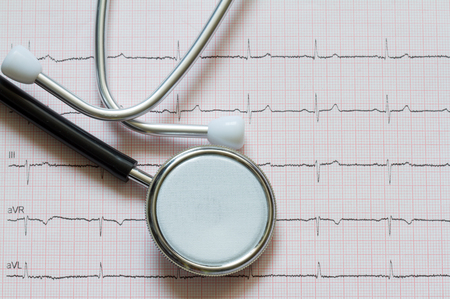 cardiogram: Heart disease abstract sign symbol with cardiogram Stock Photo