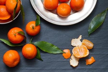 food still: Tangerines abstract food still life Stock Photo