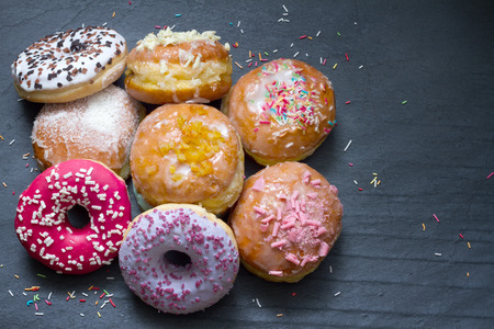 thursday: Traditional Polish donuts sweets closeup