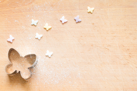 pasteles: alimentos mariposa pastelería cortador de primavera resumen de antecedentes Pascua